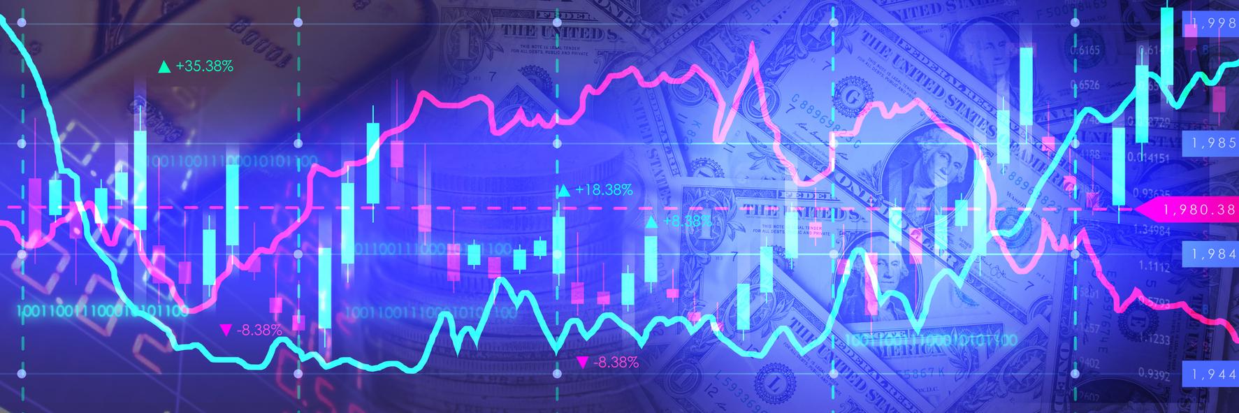 a digital financial graph
